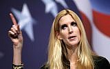 Conservative author Ann Coulter addresses the Conservative Political Action Conference (CPAC) in Washington on Saturday Feb. 20, 2010. (AP Photo/Jose Luis Magana)