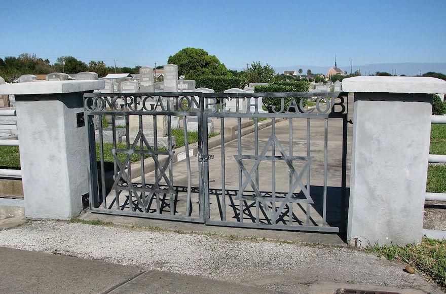 Beth Jacob Cemetery in Galveston, Texas. (Wikimedia Commons via JTA)