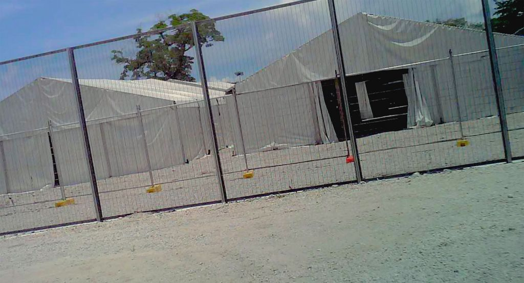Secret cell-phone footage of the detention center at Nuaru. (Screenshot, courtesy)