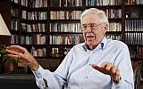 Charles Koch speaks in his office at Koch Industries in Wichita, Kansas, May 22, 2012. (Bo Rader/The Wichita Eagle via AP, File)