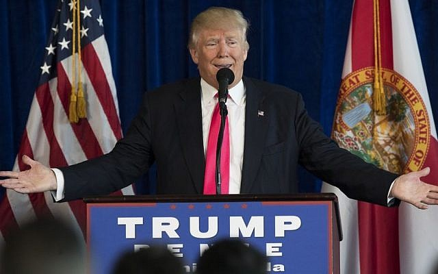 Republican presidential candidate Donald Trump speaks during a news conference at Trump National Doral, Wednesday, July 27, 2016, in Tampa, Florida. (AP Photo/Evan Vucci)