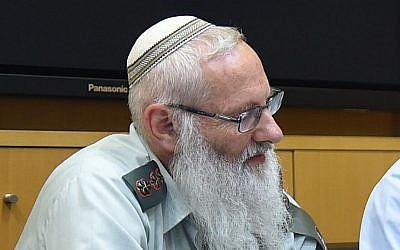Col. Eyal Karim on April 21, 2016 (Diana Khananashvili/Defense Ministry)