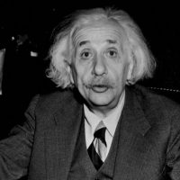 German-born American physicist Albert Einstein, 1946. (Central Press/Getty Images via JTA)