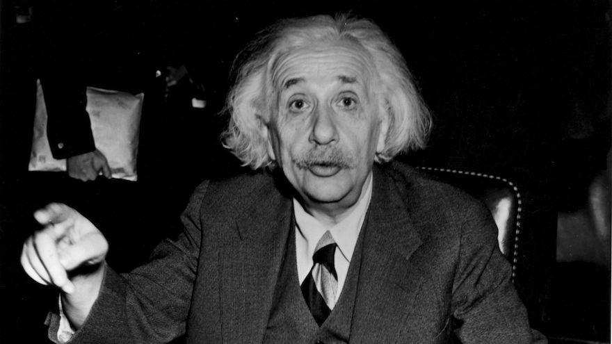 German-born American physicist Albert Einstein, 1946. (Central Press/Getty Images via JTA)