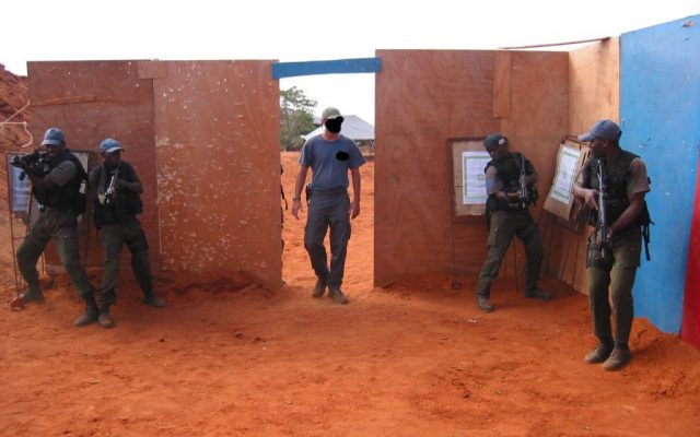 """An Israel Defense Forces commander identified as """"G"""" leads counter-terrorism training in Africa. (Flash90)"""