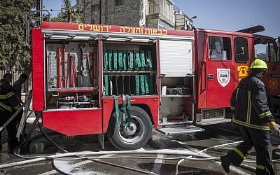 Firefighters in Jerusalem, file photo (Hadas Parush/Flash90)