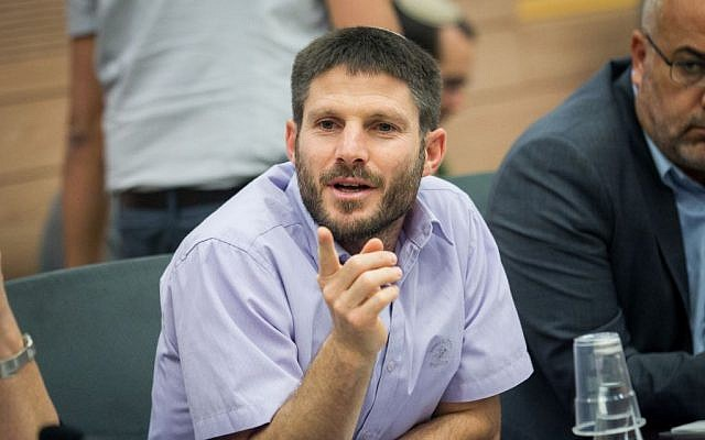 Jewish Home MK Bezalel Smotrich attends a meeting of the Constitution, Law, and Justice Committee in the Knesset on June 20, 2016. (Miriam Alster/Flash90)
