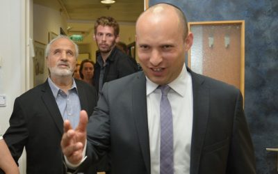 Education Minister Naftali Bennett, July 7, 2016. (Flash90)