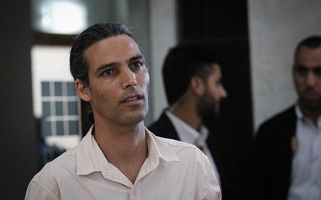 Yigal Ratzon, the son of convicted cult leader and sex offender Goel Razon, at the Jerusalem Supreme Court, July 18, 2016. (Miriam Alster/Flash90)