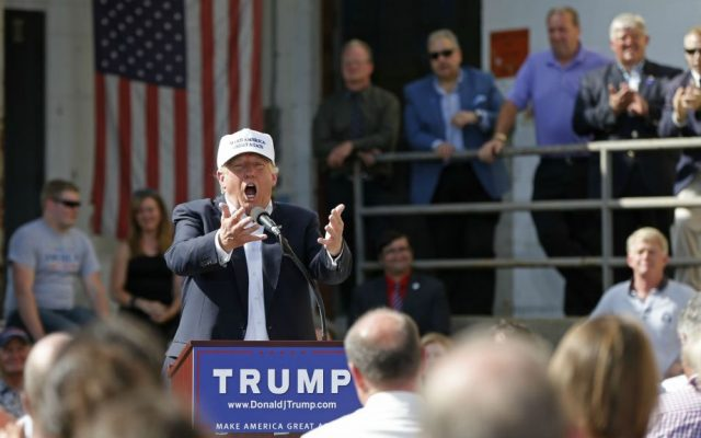 Republican presidential candidate Donald Trump speaks at a town hall-style campaign event at the former Osram Sylvania light bulb factory, Thursday, June 30, 2016, in Manchester, New Hampshire. (AP Photo/Robert F. Bukaty)