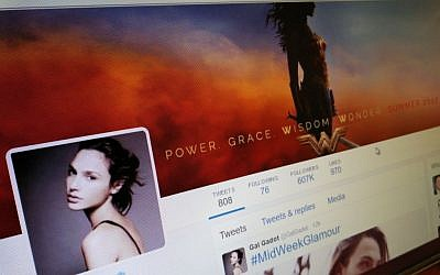 Gal Gadot's Twitter page. (Times of Israel)