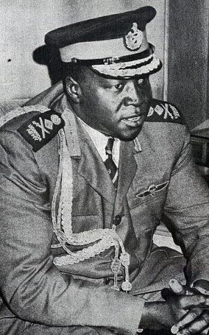 Ugandan president Idi Amin, in 1973. (Wikimedia Commons)