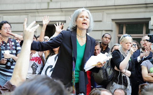 Jill Stein speaking at the Occupy Wall Street S17 demonstration in Lower Manhattan, New York on September 27, 2011 (Wikimedia Commons, Paul Stein, CC BY-SA 2.0)