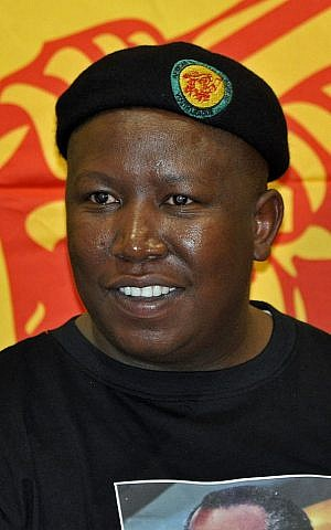 Julius Malema of the Economic Freedom Fighters (Wikimedia commons)
