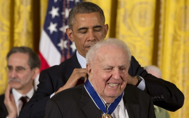 President Barack Obama awards former Illinois Rep. Abner Mikva the Presidential Medal of Freedom during a ceremony in the East Room of the White House in Washington Nov. 24, 2014.  (AP Photo/Jacquelyn Martin, File)