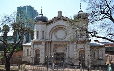 Illustrative photo of the Old Synagogue on Paul Kruger Street in Pretoria, South Africa. (CC BY-SA PHParsons, Wikimedia Commons)