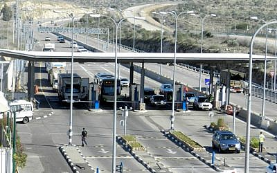 The Trans-Samaria Crossing. (Defense Ministry's Land Crossings Authority)