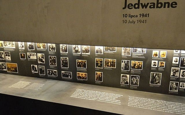 Part of an exhibition dedicated to the Jedwabne pogrom at the Museum of the History of Polish Jews in Warsaw. (CC BY-SA 3.0 Adrian Grycuk/Wikipedia)