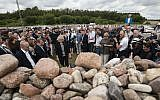 Jews from Poland and abroad gather for commemorations marking the 75th anniversary of a massacre of Jews in Jedwabne, Poland, on July 10, 2016. (AP Photo/Michal Kosc)