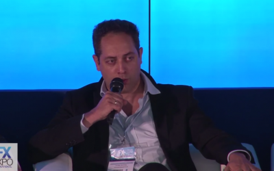 Yoni Avital, of Tradesmarter, tells a recent conference that, in Israel, the binary options industry has become a world of trading platforms that manipulate the prices, aggressive salespeople, and money laundering (YouTube screenshot)