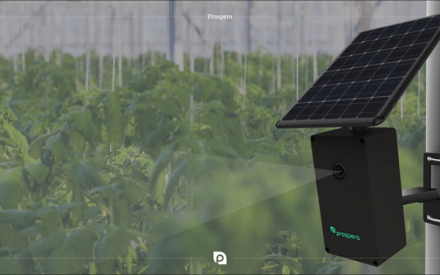 Prospera's sensor in a field (Courtesy)