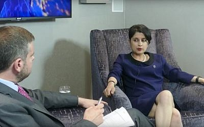 Shami Chakrabarti, interviewed on J-TV by Alan Mendoza, July 2016 (YouTube screenshot)