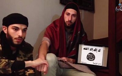 Normandy church attackers pledge allegiance to Islamic State (Screen capture: Youtube)