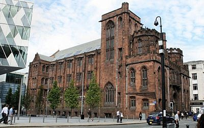 The John Rylands Library in Manchester where Dr. Aron Sterk found the English translation of the ancient Spanish siddur. (Wikimedia commons)