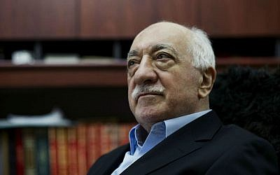 In this March 15, 2014 file photo, Turkish Muslim cleric Fethullah Gulen sits in his residence in Saylorsburg, Pennsylvania. (AP Photo/Selahattin Sevi, File)