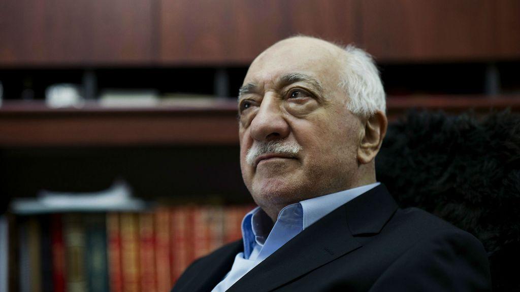 In this March 15, 2014 file photo, Turkish Muslim cleric Fethullah Gulen sits in his residence in Saylorsburg, Pennsylvania. (AP Photo/Selahattin Sevi, File)