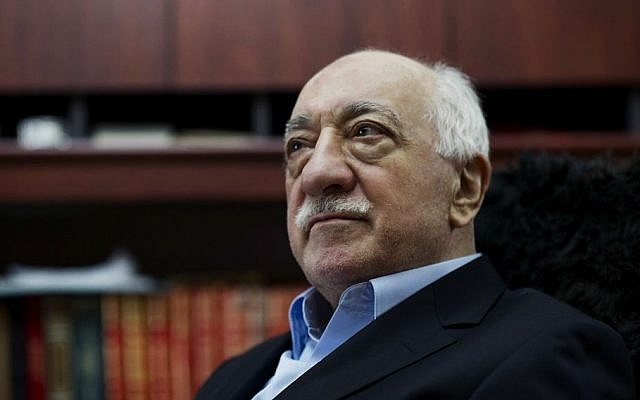 Turkish Muslim cleric Fethullah Gulen, sits at his residence in Saylorsburg, Pennsylvania in 2014 (AP Photo/Selahattin Sevi, File)