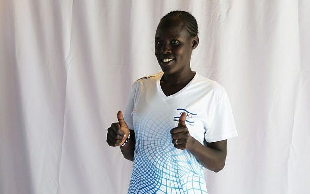 Marathoner Lonah Chemtai will compete for Israel at the 2016 Olympics. July 12, 2016. (Luke Tress/Times of Israel)