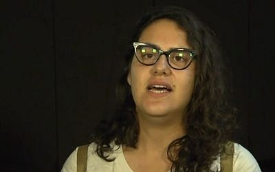 Tair Kaminer, a 19-year-old Israeli woman who spent more than five months in military prison for refusing to enlist, after her release on July 18, 2016. (screen capture: Ynet)