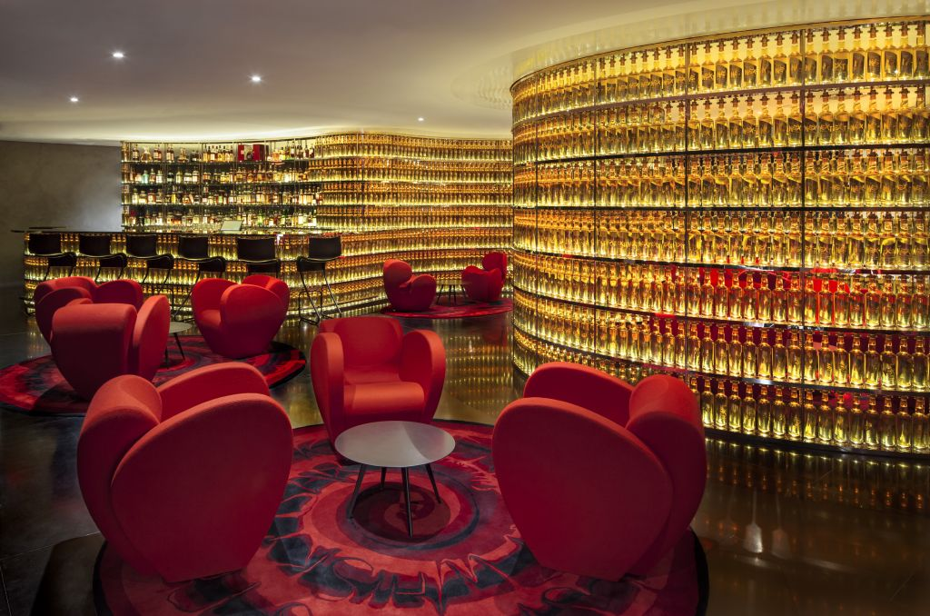 Interior of The Next Whisky Bar, at the Watergate Hotel, designed by Ron Arad. (The Watergate Hotel)