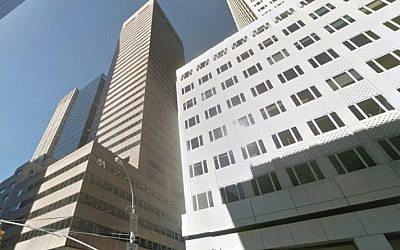 The building at 650 5th Avenue in New York at the center of a case related to compensation for victims of Iran-sponsored terror. (Screen capture: Google street view)