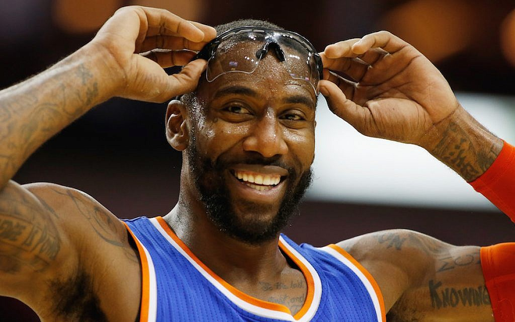 Amar'e Stoudemire playing for the New York Knicks in a game against the Houston Rockets at the Toyota Center in Houston, Nov. 24, 2014. (Scott Halleran/Getty Images)