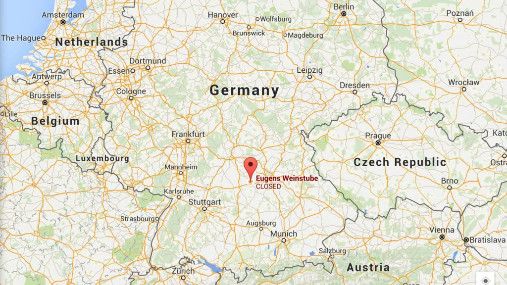 a google maps image showing the location of ansbach germany where an explosive device