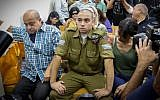 Elor Azaria, an Israeli soldier who killed a wounded Palestinian stabber, seen during a court hearing at a military court in Jaffa, July 26, 2016. (Flash90)