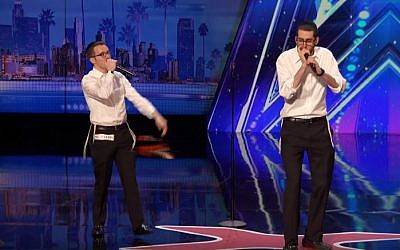 Ilan Swartz-Brownstein and Josh Leviton perform on the 'America's Got Talent' television show. (YouTube/America's Got Talent)