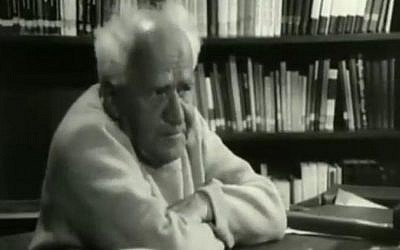 David Ben-Gurion, Israel's first prime minister, in a recently unearthed interview from 1968 (Channel 2 News)