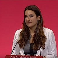 Labour MP Luciana Berger delivers a speech to the Annual Conference on October 7, 2015 in Brighton, UK. (screen capture: YouTube)