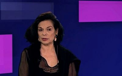 Bianca Jagger in a 5 News interview on British television in March 2016. (screen capture: YouTube)