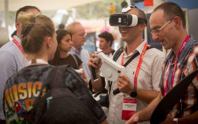 Participants at the DLD Tel Aviv Digital Conference in Tel Aviv, Israel's largest international Hi-tech gathering, September 8, 2015. (Miriam Alster/FLASH90)