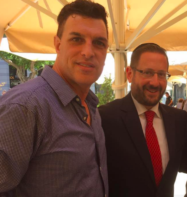 Lawrence and Dov Lipman, the former, one-term MK who will be lobbying for new immigrants in the Knesset (Courtesy LiAmi Lawrence)