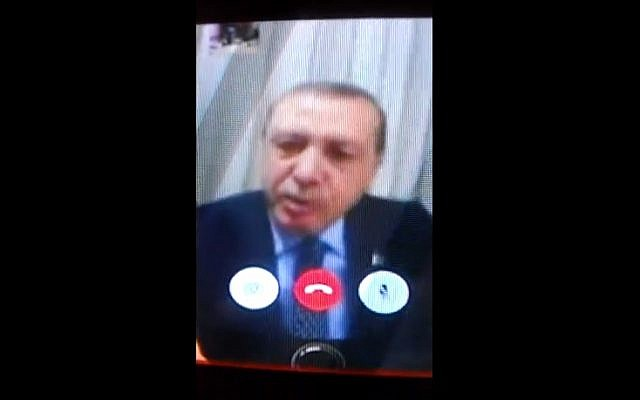 Turkish President Recep Tayyip Erdogan talks to CNN Turk via FaceTime, following an apparent coup from the country's military on July 15, 2016 (screen capture: YouTube)