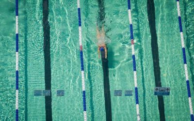 Illustrative photo of a woman swimming in the Gordon Pool in Tel Aviv on September 11, 2014. (Miriam Alster/FLASH90)