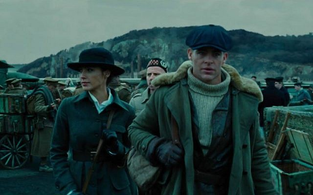 "Gal Gadot, left, and Chris Pine in Warner Brothers' ""Wonder Woman."" (YouTube screen capture)"