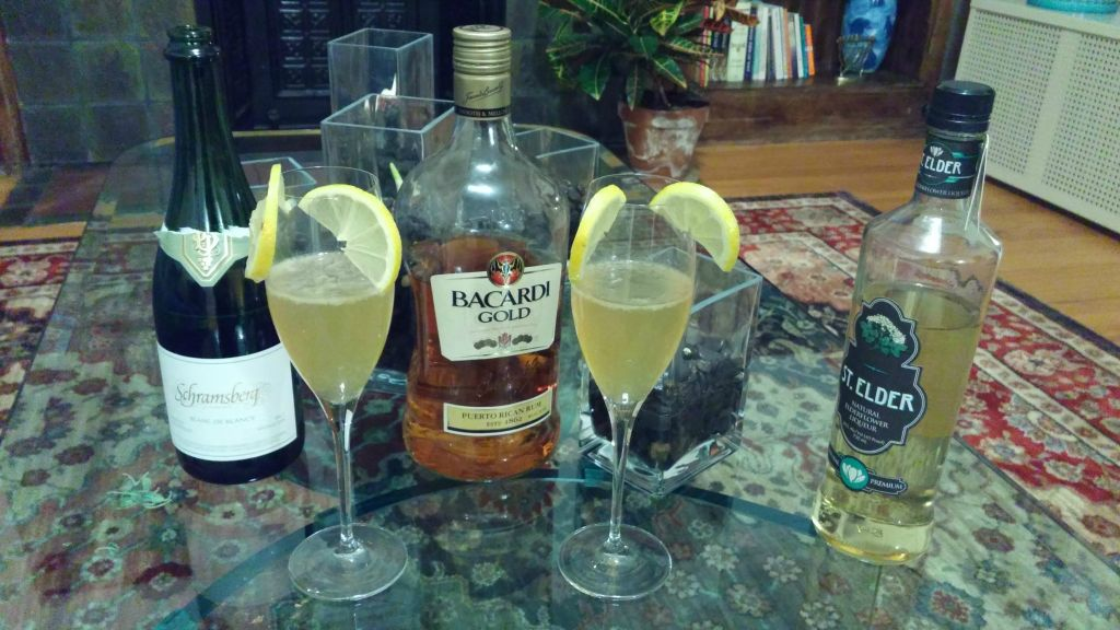 'Golden Cherub' alcoholic drink from 'Tippling Through The Torah' blog. (Courtesy)