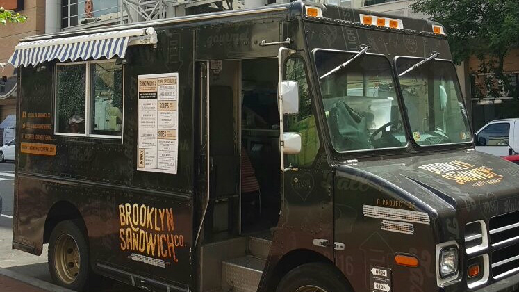 The Brooklyn Sandwich Company kosher food truck rolled out onto the streets of Washington, DC for the first time in July 2016. (Courtesy)