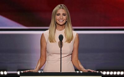 Ivanka Trump speaking during the evening session on the fourth day of the Republican National Convention at the Quicken Loans Arena in Cleveland, Ohio, July 21, 2016. (Alex Wong/Getty Images)